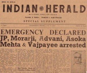 indian herald emergency frontpage indira gandhi congress nehru आरएसएस संघ का खुनी इतिहास ! समय निकाल कर जरूर पढ़ें संघ का खूनी इतिहास